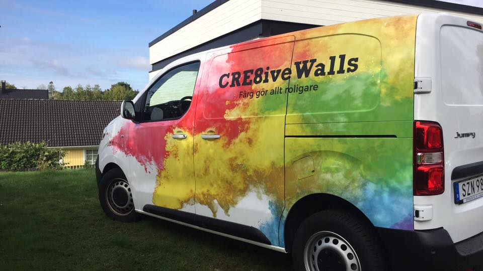 Cre8iveWalls företagsbil